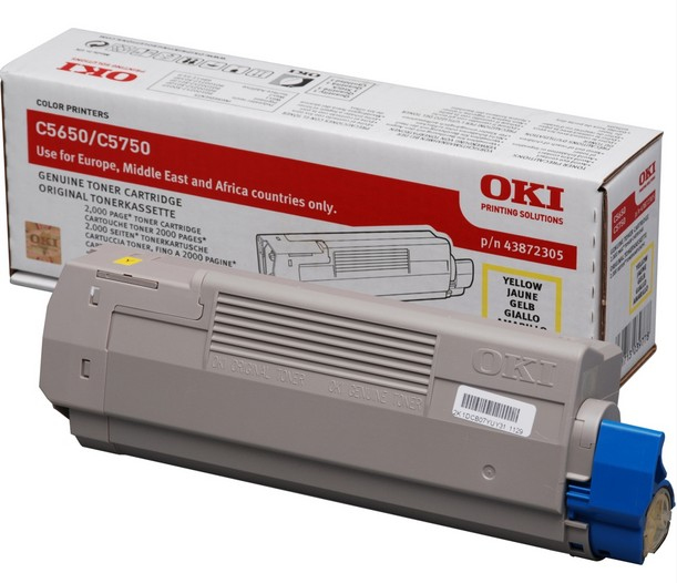 Remanufactured Oki 43872305 Toner Cartridge Yellow 2k 43872305 - rem01