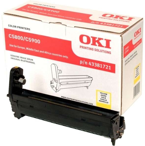 Remanufactured Oki 43381721 Drum Yellow 20k 43381721 - rem01