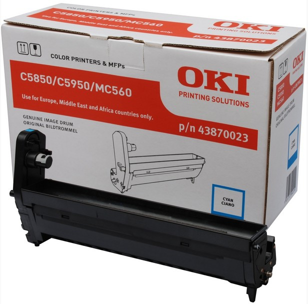 Remanufactured Oki 43870023 Drum Cyan 20k 43870023 - rem01