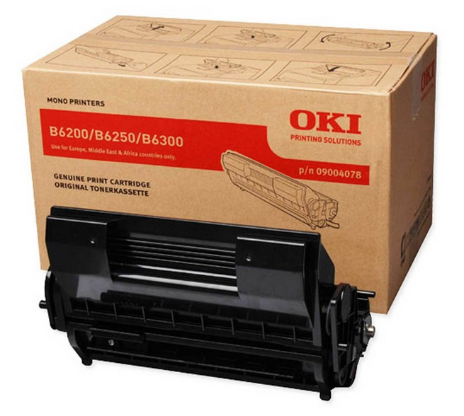 Remanufactured Oki 09004078 Toner Cartridge Black B6200 /B6300 10k 9004078 - rem01
