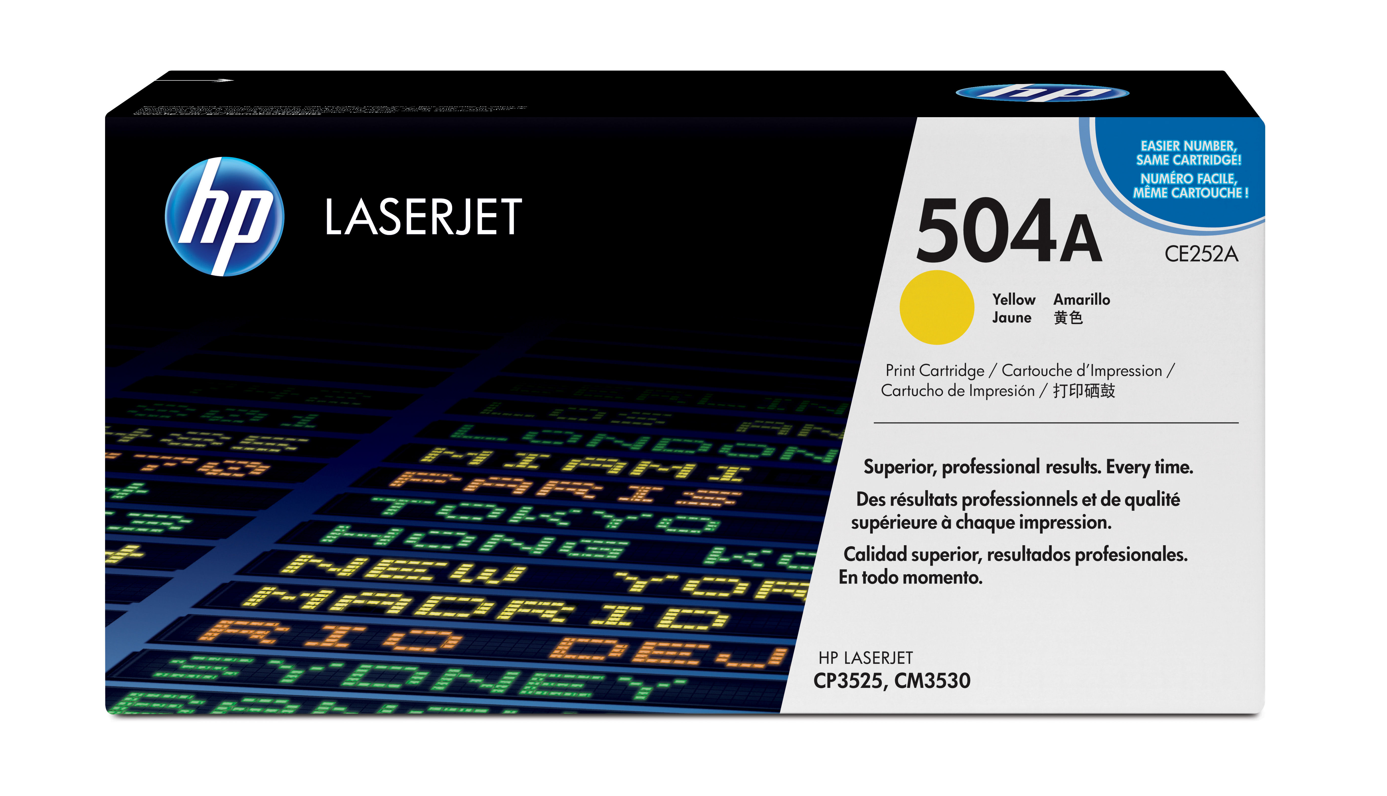 Remanufactured HP CE252A Toner Cartridge Yellow 7k CE252A - rem01