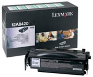 Remanufactured Lexmark 12A8420 Toner Cartridge Black 6k 12A8420 - rem01