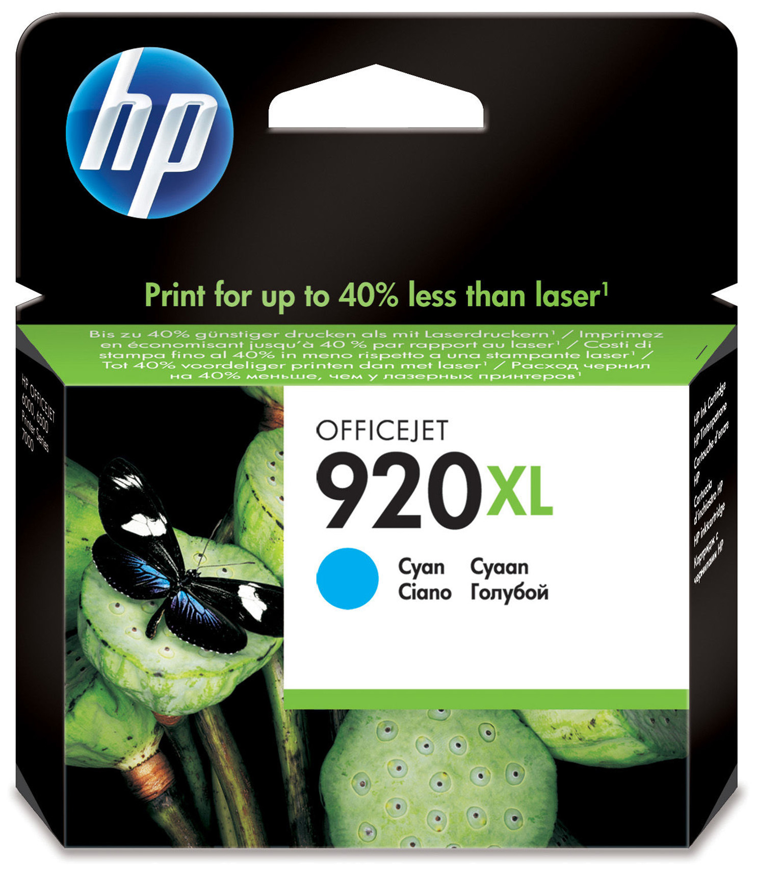 Compatible HP CD972AE (920XL) Cyan Ink Cartridge CD972AE - rem01