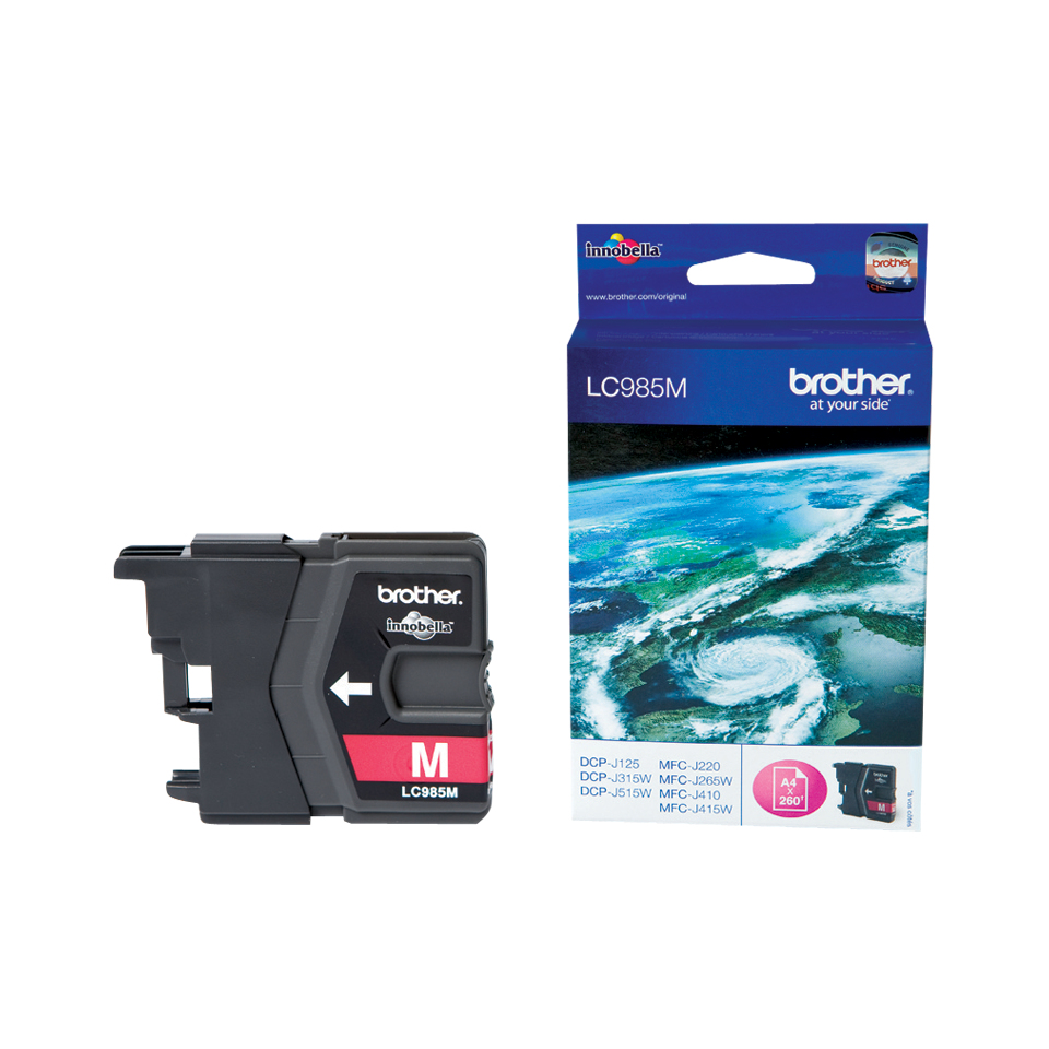 Compatible Brother (LC985M) Magenta Ink Cartridge LC985M - rem01