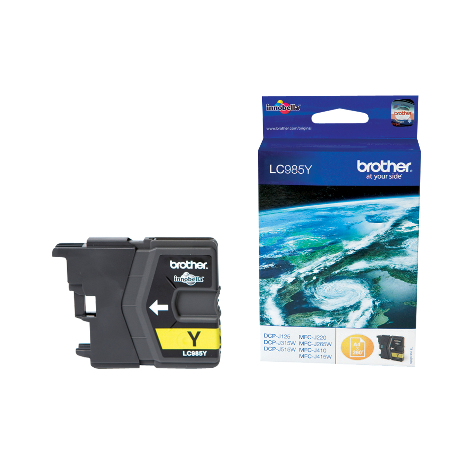 Compatible Brother (LC985Y) Yellow Ink Cartridge LC985Y - rem01