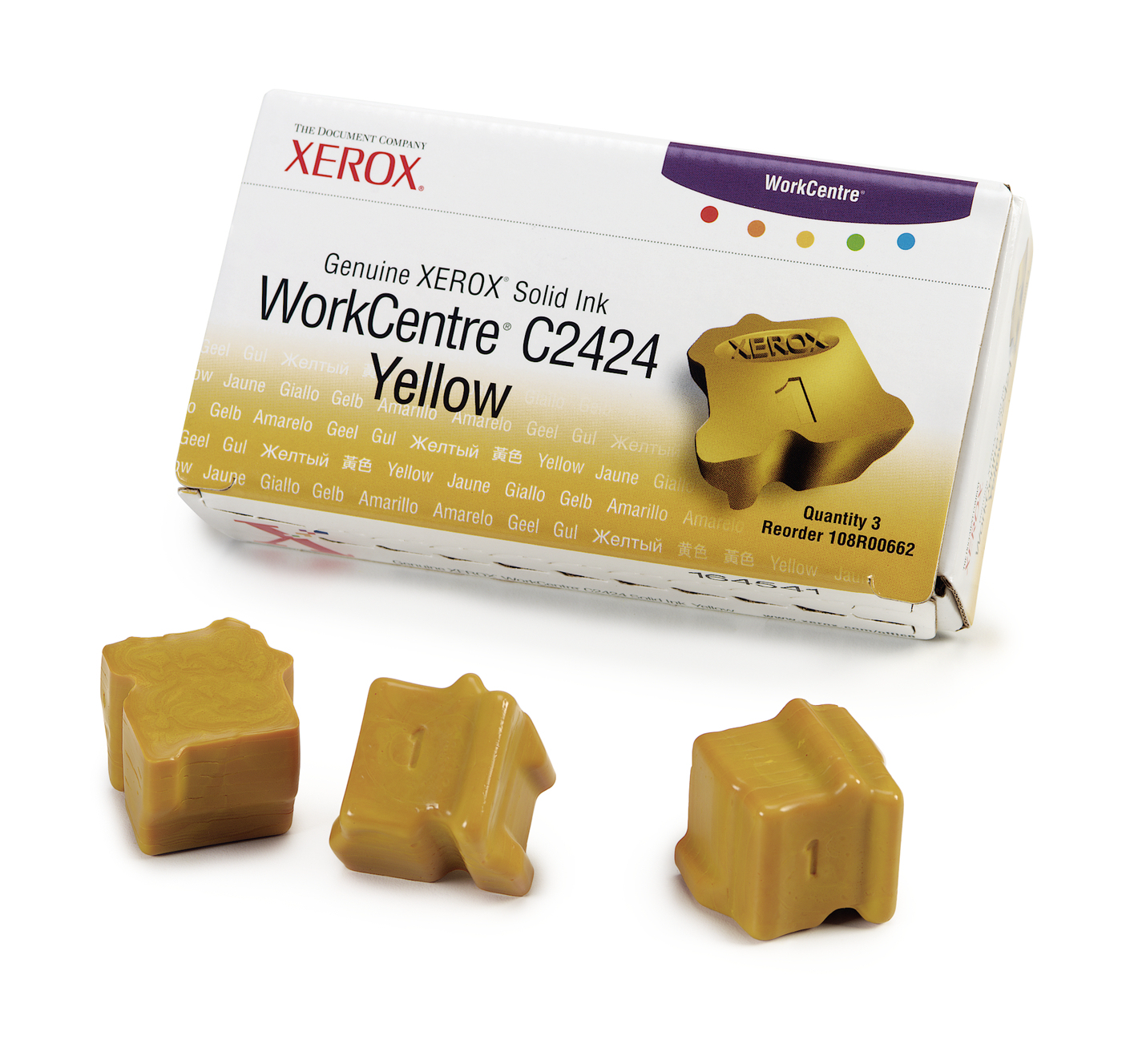 Compatible Xerox (108R00662) Yellow Solid Ink Cartridge 108R00662 - rem01