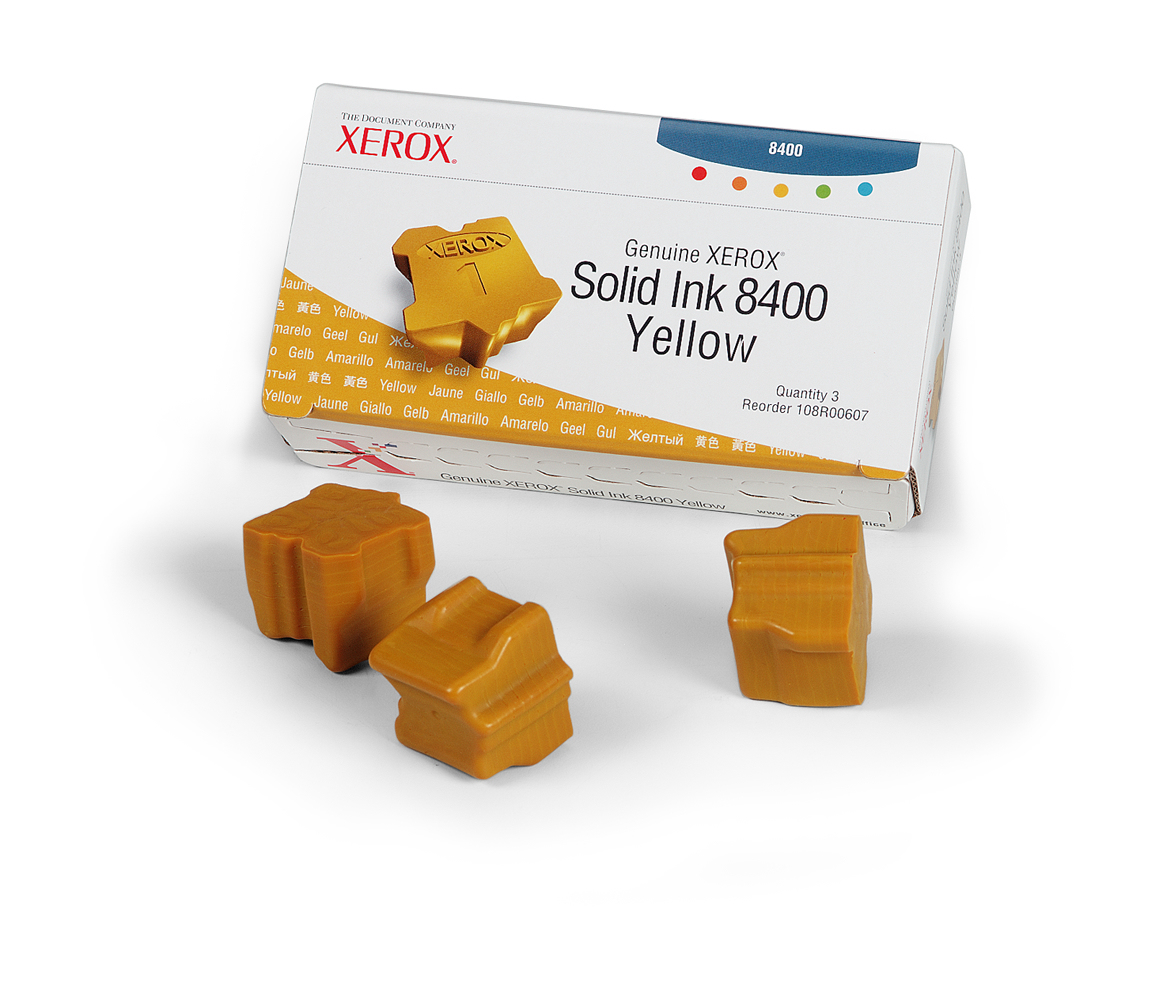 Compatible Xerox (108R00607) Yellow Solid Ink Cartridge 108R00607 - rem01