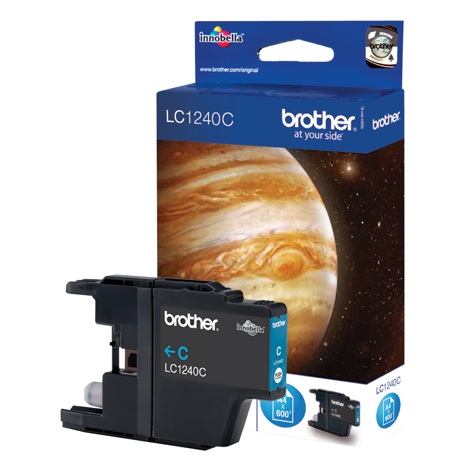 Compatible Brother LC1240C (LC1240) Cyan Inkjet Cartridge LC1240C - rem01