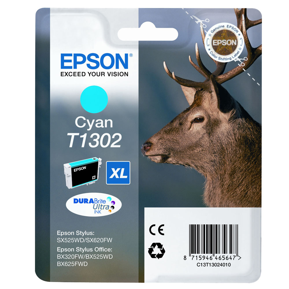Blue Box Compatible Epson C13T13024010 (T1302) Cyan Inkjet Cartridge C13T13024010 - rem01