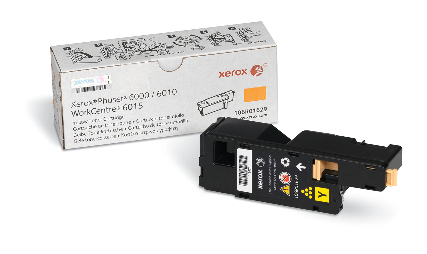 Remanufactured Xerox Phaser 6000 Yellow Toner 1k 106R01629 - rem01