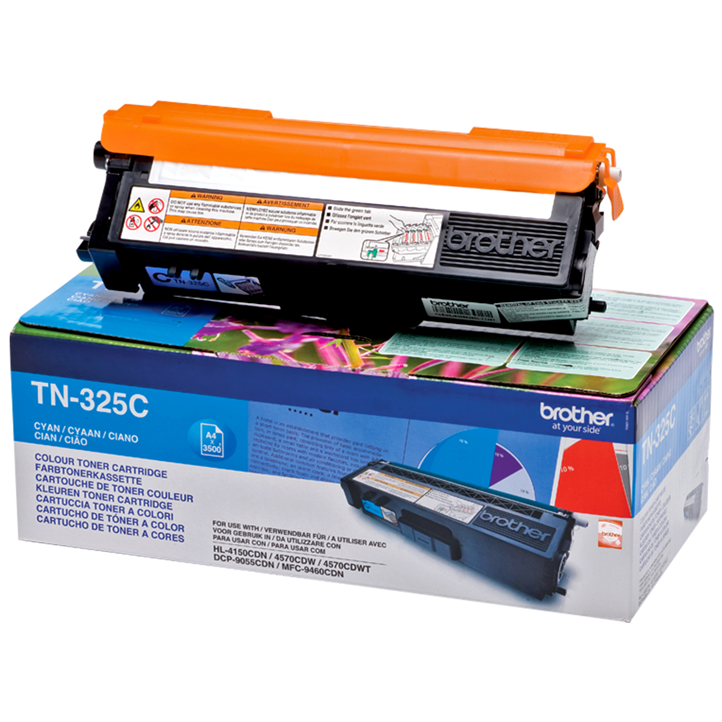Remanufactured Brother TN325C Cyan Toner TN325C - rem01