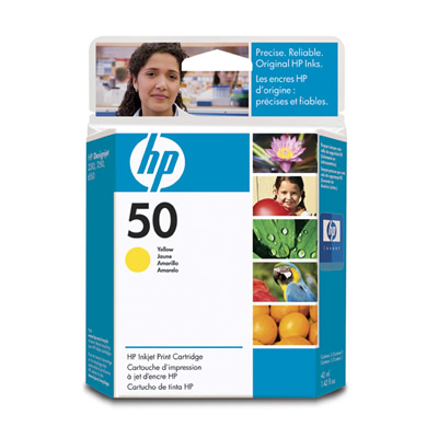 Remanufactured HP 51650Y (50) Yellow Ink Cartridge 42ml 51650Y - rem01