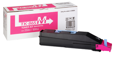 Remanufactured Kyocera TK865M Magenta Toner Cartridge 12k TK865M - rem01