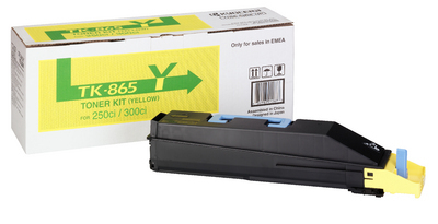 Remanufactured Kyocera TK865Y Yellow Toner Cartridge 12k TK865Y - rem01