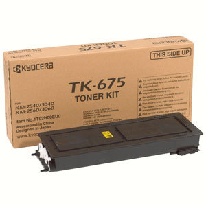 Remanufactured Kyocera TK675 Black Toner Cartridge  20k TK675 - rem01