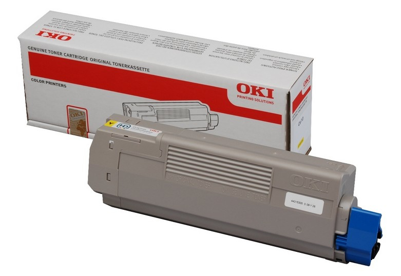 Remanufactured Oki 44315305 Yellow Toner Cartridge (6k) 44315305 - rem01