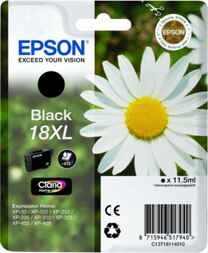 Compat Epson C13T18114010 (18XL) Black Cartridge C13T18114010 - rem01