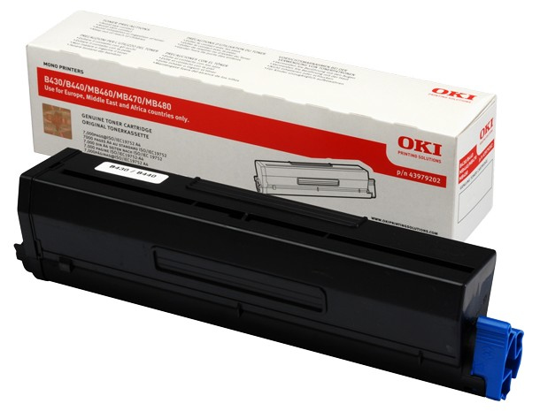Remanufactured Oki 43979202 Black Toner Cartridge (7k) 43979202 - rem01