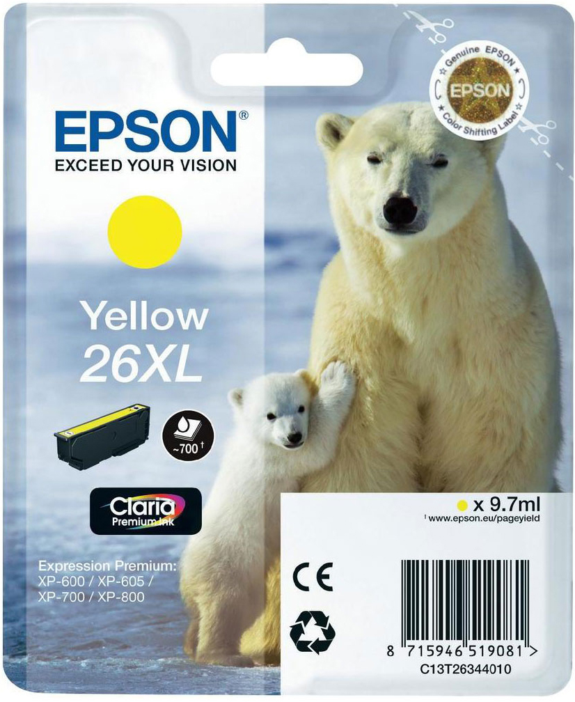 Compat Epson C13T26344010 (26XL) Yellow Cartridge C13T26344010 - rem01