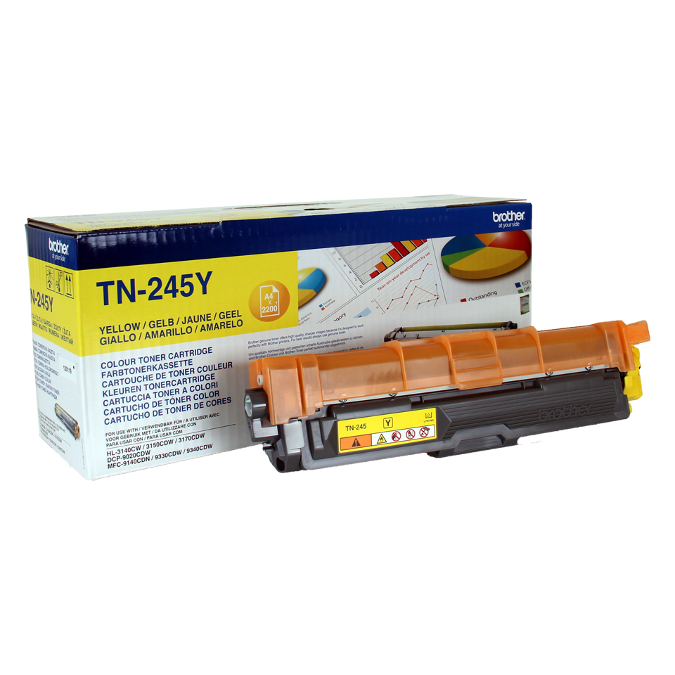 Compat Brother TN241Y Yellow Toner 1k4 TN245Y - rem01