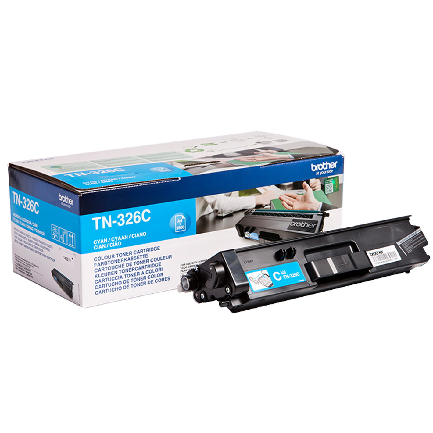 Reman Brother TN-326C Cyan Toner Cart 3k5 TN326C - rem01
