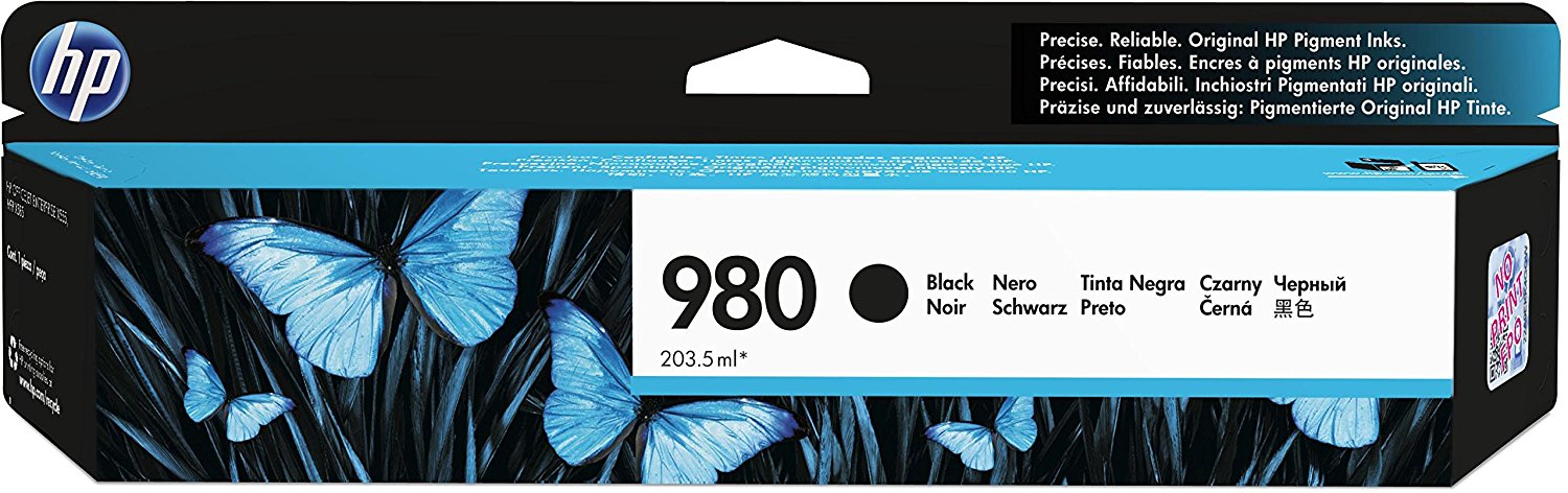 BB Comp HP D8J10AA (980) Black Dye Ink Cartridge D8J10A - rem01