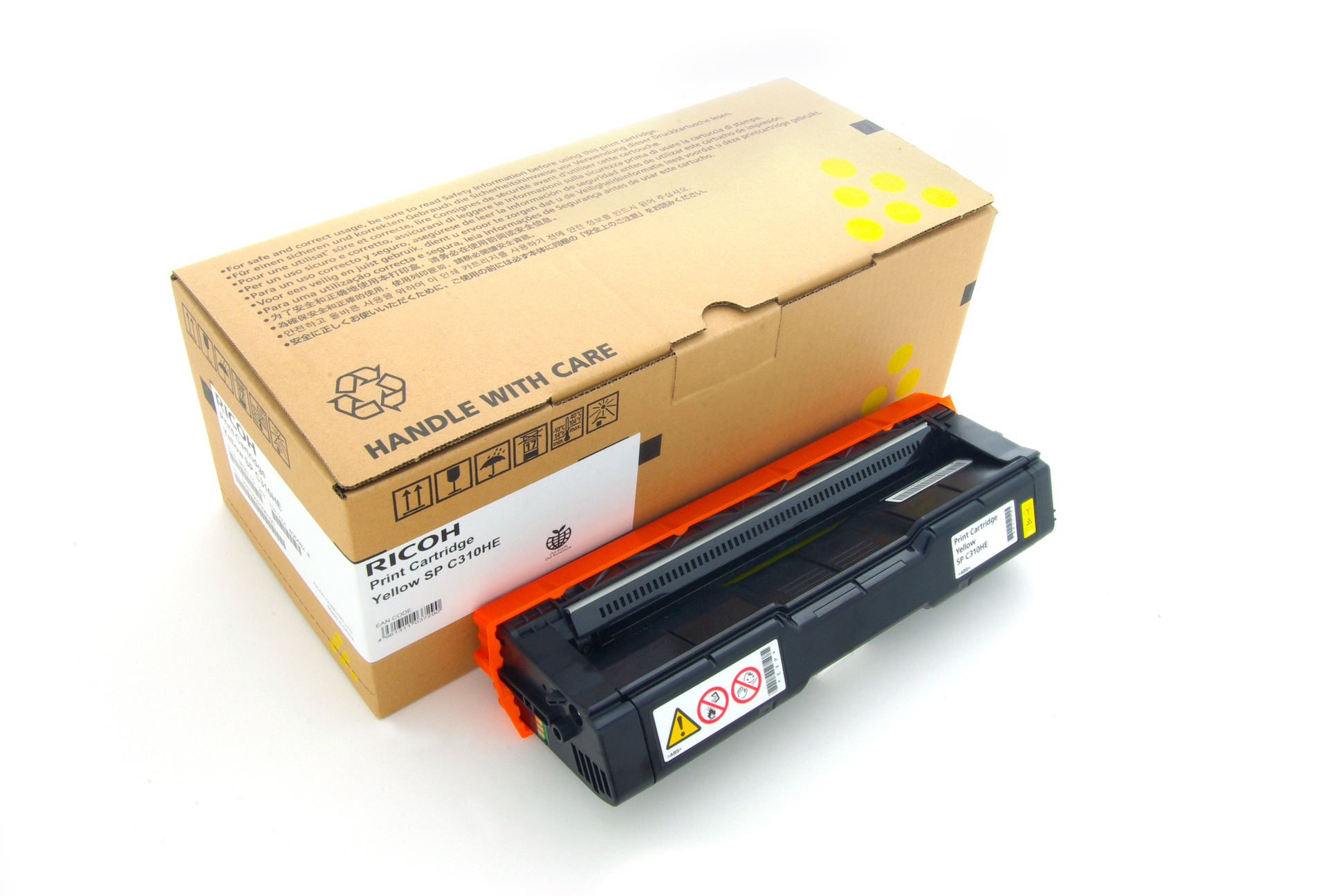 Reman Ricoh 406482 Toner Cart Yellow Aficio SP231N 406482 - rem01