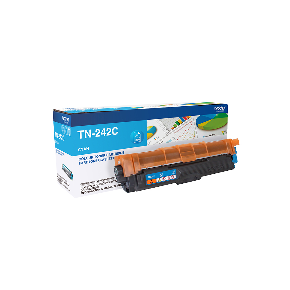 Compat Brother TN242C Cyan Toner TN242C - rem01