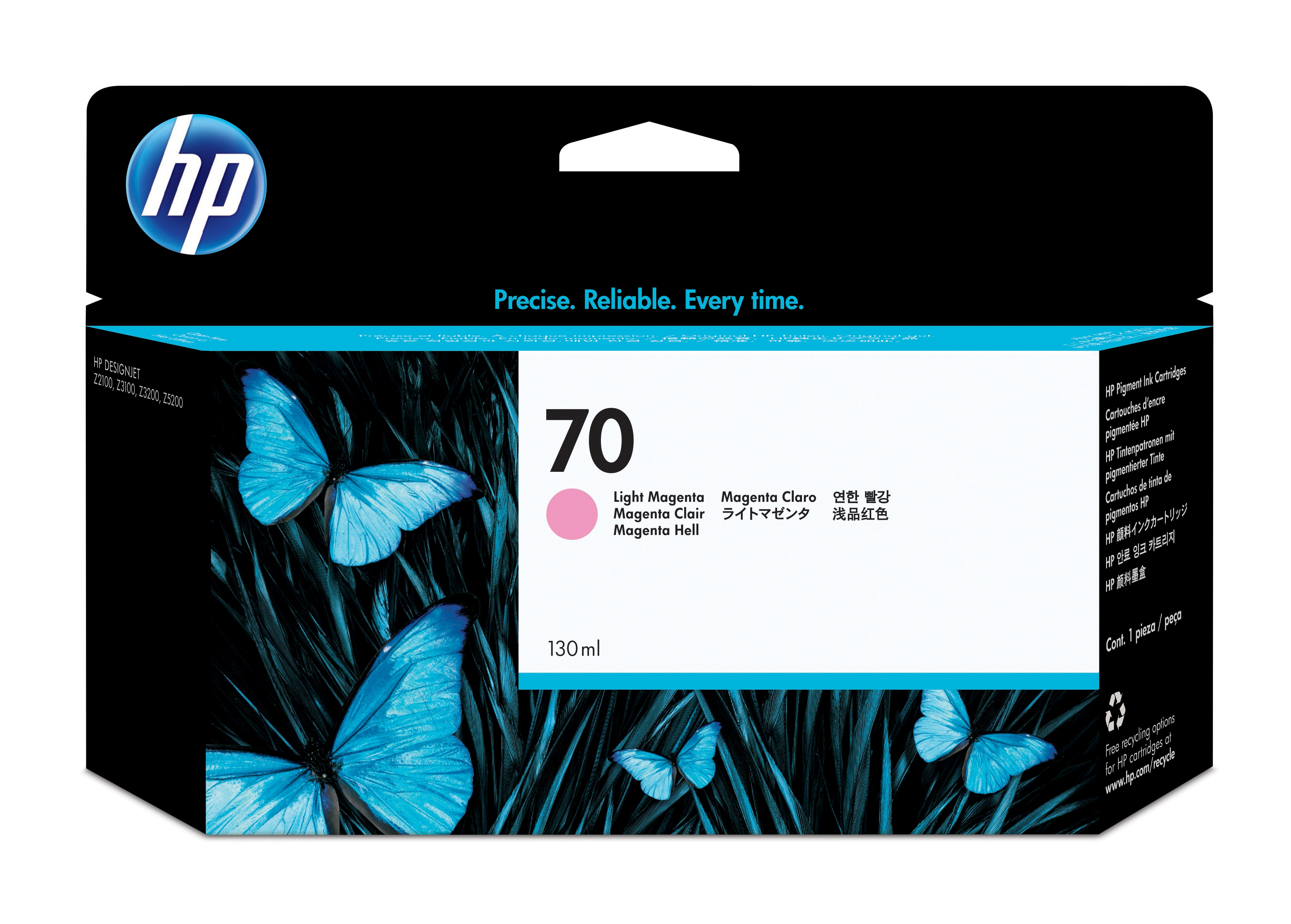 HP No. 70 Ink Cartridge Light Magenta - 130ml C9455a