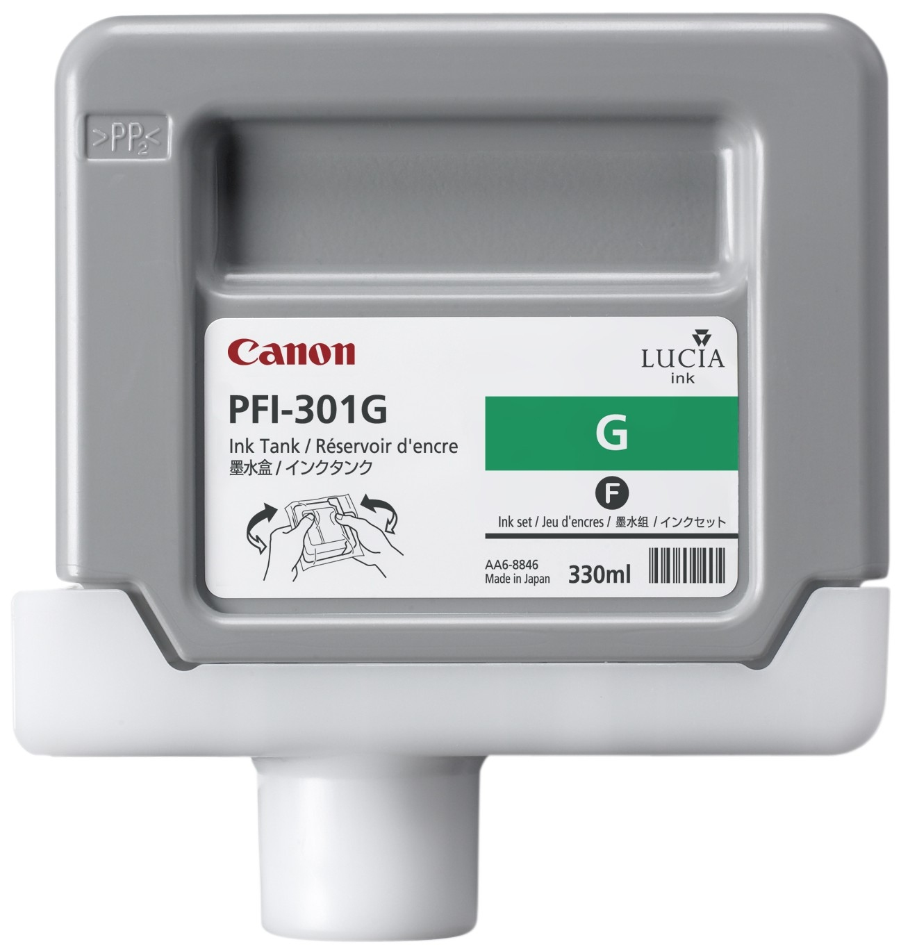 CANON PFI-301G - Green Ink Tank - 330ml 1493b001aa