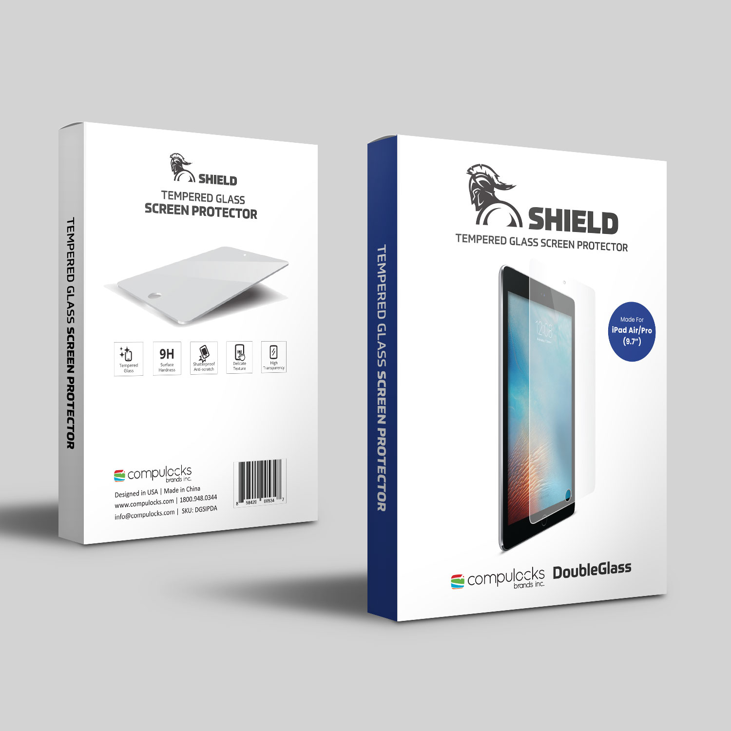 Compulocks                       Armored Tempered Glass Shield       Ipad Air / Air 2                    Dgsipda