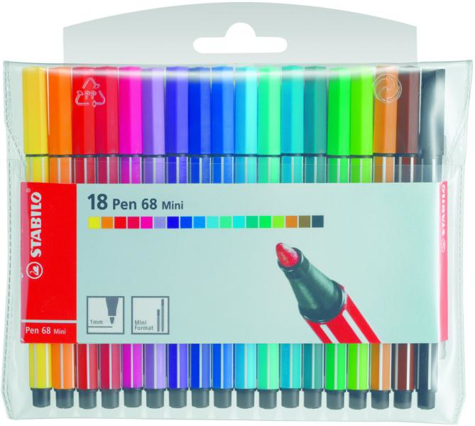 stabilo Stabilo Point 68 Fibre Tip Pen Assorted Pk20 6820-04 - AD01