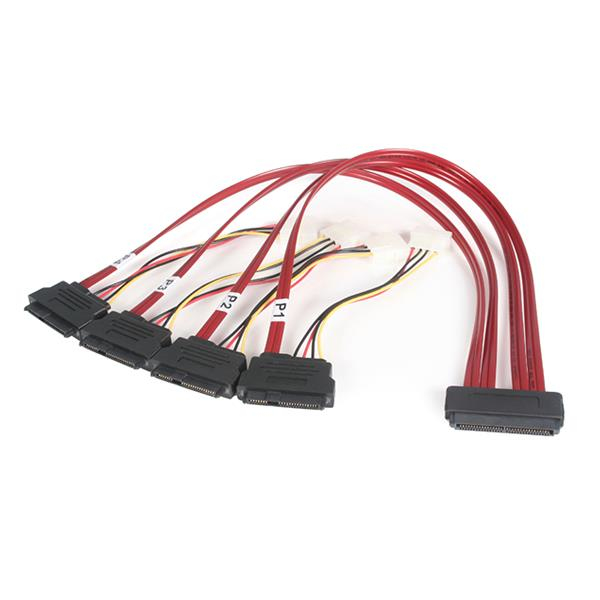 Startech - Cable                 50cm Serial Attached Scsi Sas       Cable - Sff-8484 To Sff-8482     Uk Sas8482p50