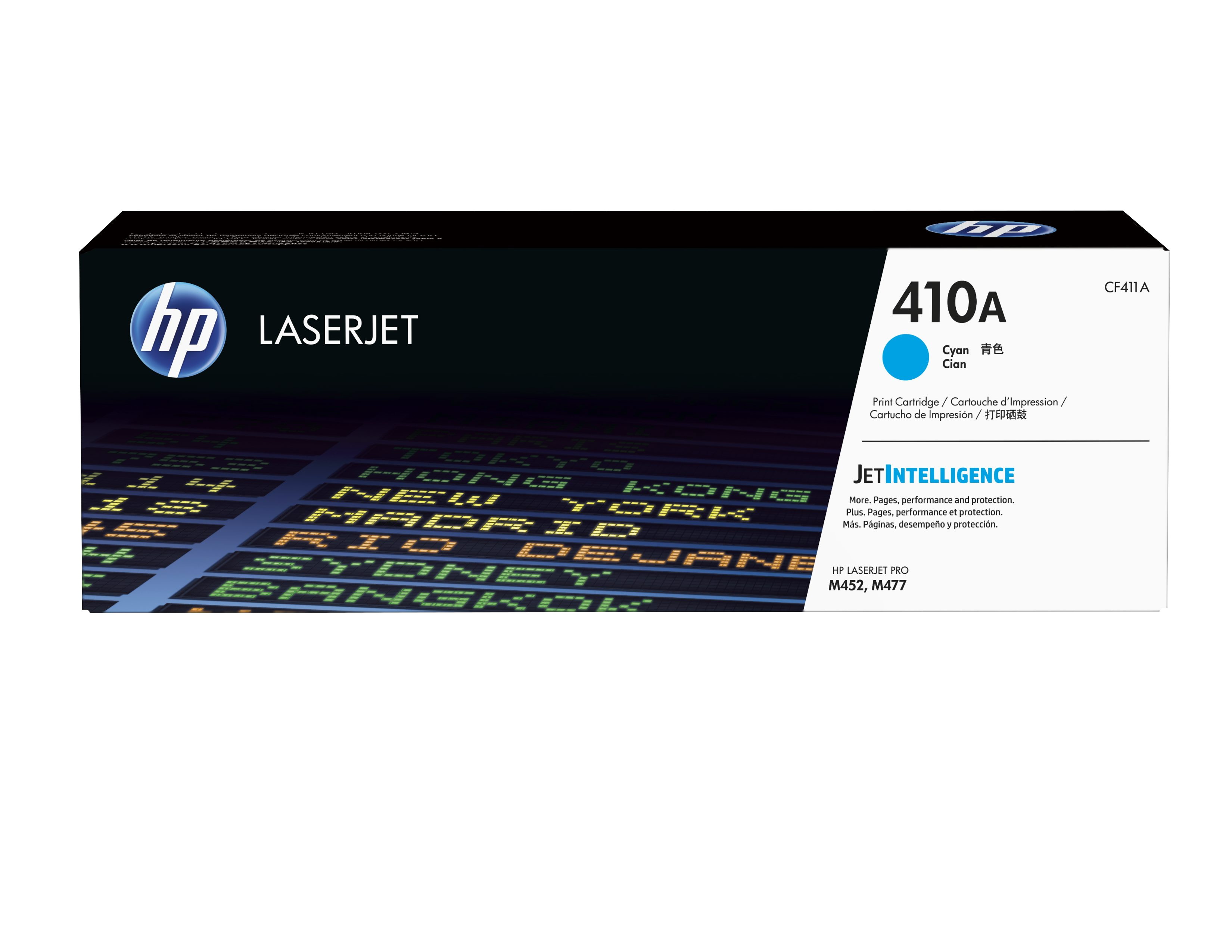 HP 410A - Cyan - Original - LaserJet - Toner Cartridge ( CF411A ) - For Color LaserJet Pro M452, MFP M377, MFP M477 CF411A - C2000