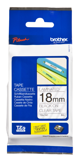 Brotz141       Brother P-touch Tze Label Tape 18mm Gloss                                                   - UF01