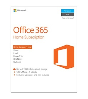 6GQ-00684 Office 365 Home Premium 1YR Subscription (5PC)