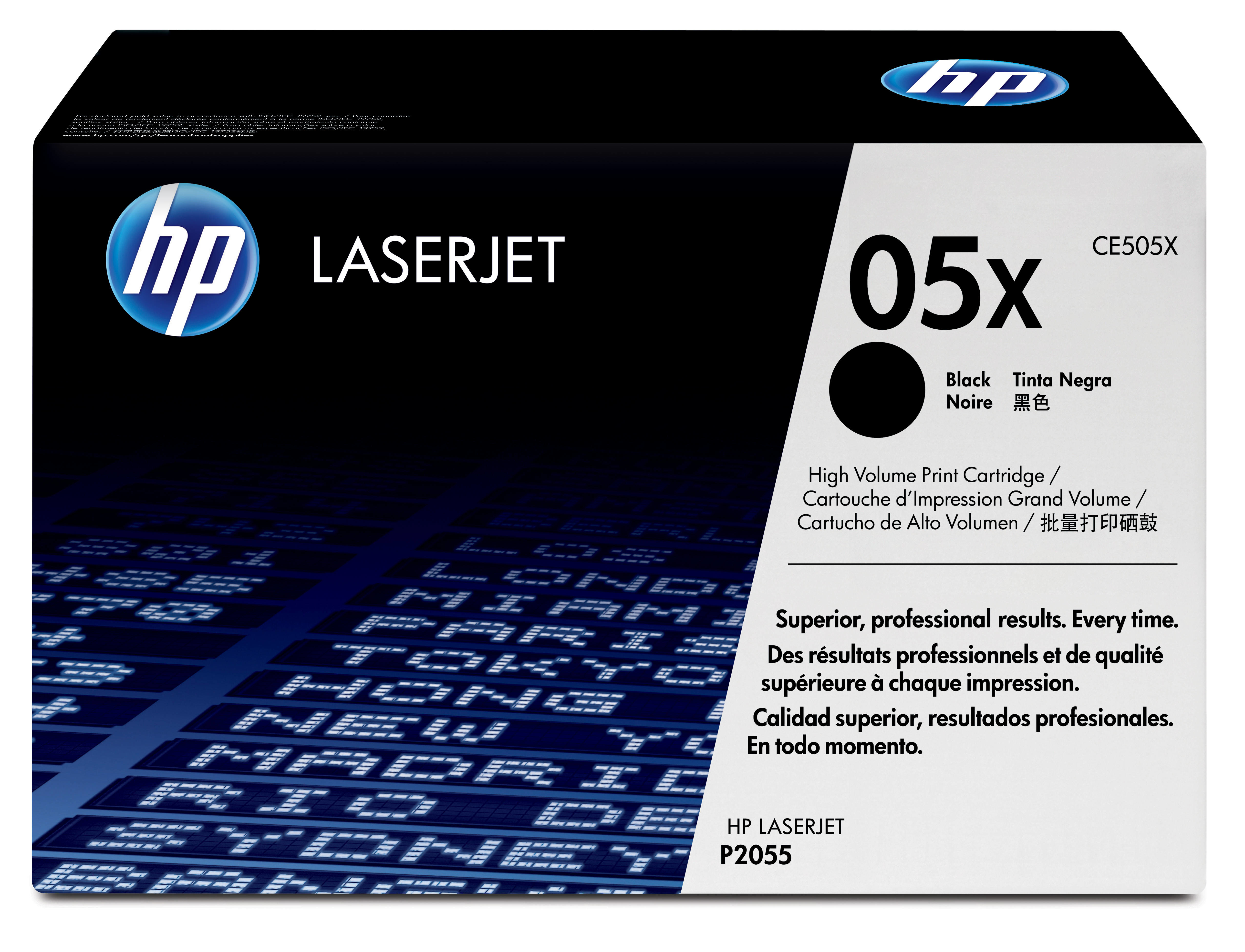 HP 05X - CE505X - 1 X Black - Toner Cartridge - High Yield - For LaserJet P2054, P2055, P2056, P2057 CE505X - C2000