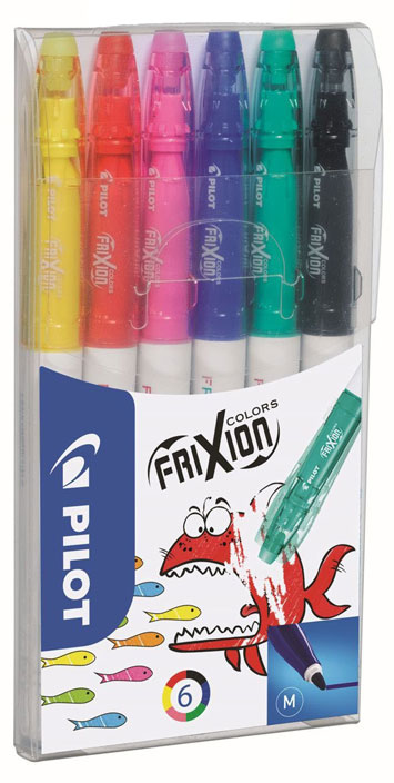 pilot Pilot Frixion Colouring Pens Assorted Pk6 220300600 - AD01