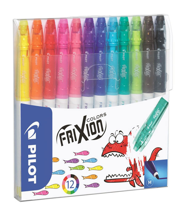 pilot Pilot Frixion Colourng Pens Assorted Pk12 220300120 - AD01