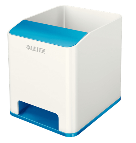 esselte Leitz Wow Duo Colour Sound Pen Holder Blue 536310036 (pk1) 53631036 - AD01