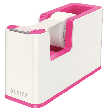 esselte Leitz Wow Duo Colour Tape Dispenser Pink 53641023 (pk1) 53641023 - AD01
