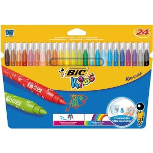 bic Bic Kids Couleur Colouring Felt Pens Pk24 841800 - AD01