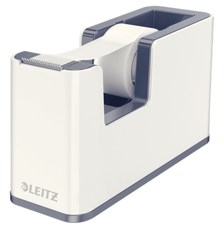 esselte Leitz Wow Duo Colour Tape Dispenser White 53641001 (pk1) 53641001 - AD01