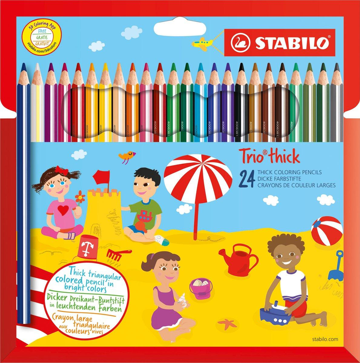 stabilo Stabilo Trio Thick Colouring Pencils Pk24 203/24-01 - AD01