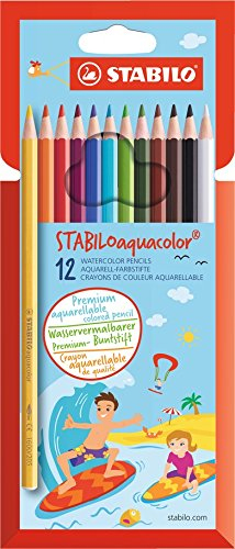 stabilo Stabilo Aquacolor Water Colour Pencils Pk12 1612-6 - AD01