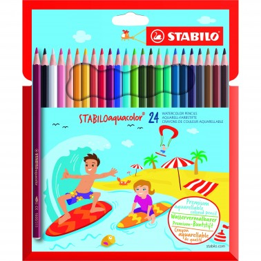 stabilo Stabilo Aquacolor Water Colour Pencils Pk24 1624-6 - AD01
