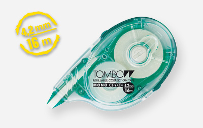 tombow Tombow Correction Tape Mono Yxe4 4.2mm X 16m Refillable Pk1 Ct-yxe4 - AD01