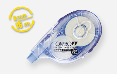 tombow Tombow Correction Tape Mono Yxe6 6mm X 16m Refillable Pk1 Ct-yxe6 - AD01