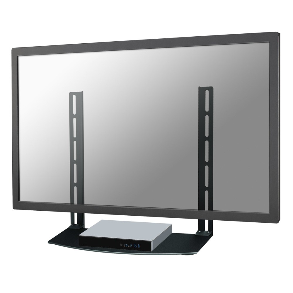 NewStar AV Equipment Shelf For Sky/Virgin/BT/Freeview Box, Xbox, Playstation, DVD And Bluray Players - Black. The NewStar AV Equipment Shelf Is Ideal For Placement Of AV Equipment Under Or Ab - C2000