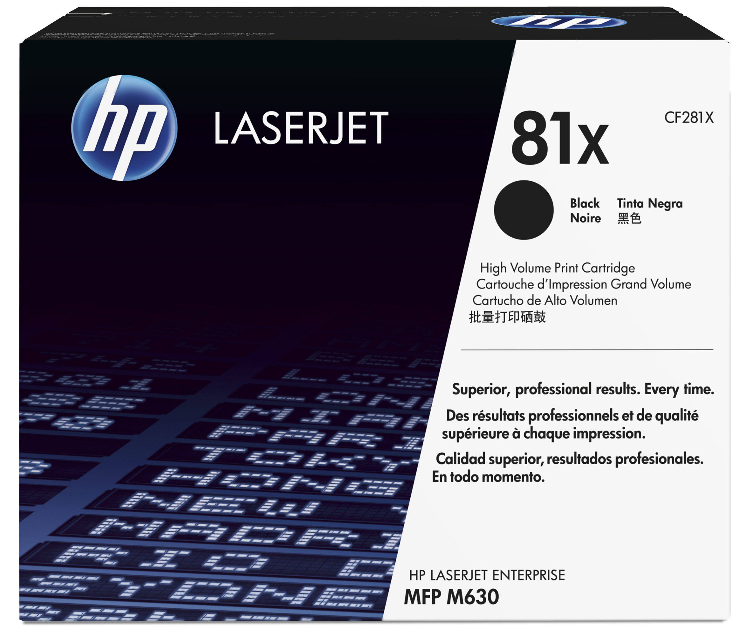 HP 81X - CF281X - 1 X Black - Toner Cartridge - High Yield - For LaserJet Enterprise Flow M630, Flow MFP M630, M605, M606, M630, MFP M630 CF281X - C2000